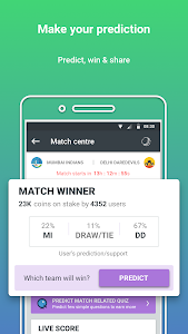 screenshot of Prediction Guru™ - Live Score, Sports, Social, ICC version 5.1.0