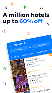 screenshot of Priceline Hotel Deals, Rental Cars & Flights version 4.54.190
