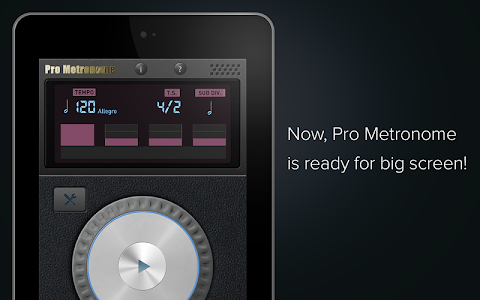 screenshot of Pro Metronome version 0.13.0