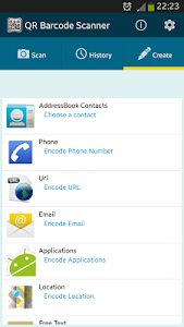 screenshot of QR BARCODE SCANNER version Varies with device