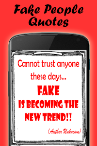 screenshot of Quotes about fake people version 1.05