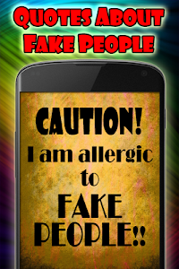 screenshot of Quotes about fake people version 1.07