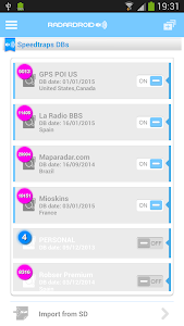 screenshot of Radardroid Lite International version 3.62
