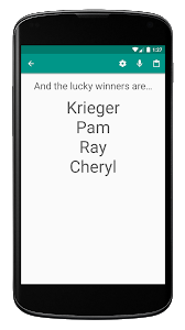 screenshot of Random Name Picker - Raffles, Decisions, Groups version 3.11.1