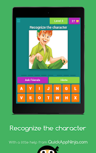 screenshot of Recognize the animated character version 4.1.0z