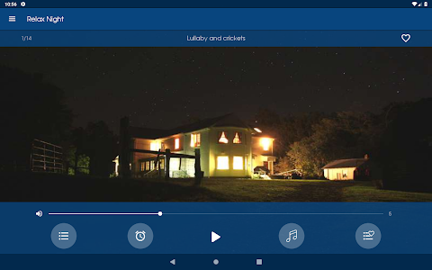screenshot of Relax Night ~ Nature sounds: sleep & meditation version Varies with device