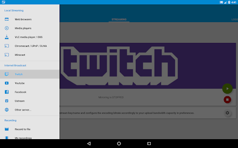 screenshot of Screen Stream Mirroring Free version 2.5.4
