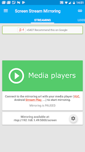 screenshot of Screen Stream Mirroring Free version 2.4.0d