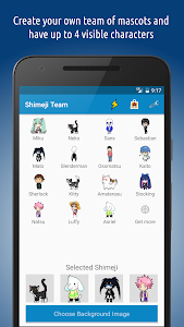 screenshot of Shimeji version 2.7