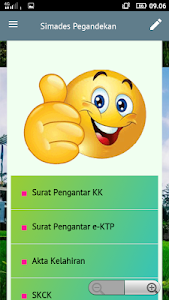 screenshot of Simades Pegandekan version 2.1