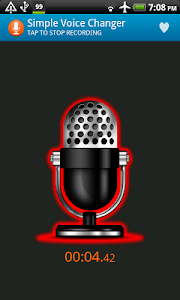 screenshot of Simple Voice Changer version 2.0.7