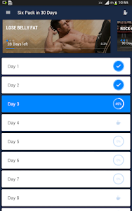 screenshot of Six Pack in 30 Days - Abs Workout version 1.0.10