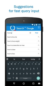 screenshot of Smart Search & Web Browser – light & fast engine version 3.7.2
