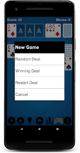 screenshot of Solitaire version 1.35
