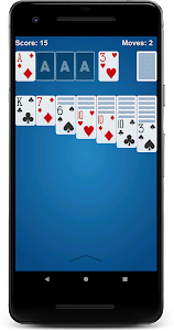 screenshot of Solitaire version 1.29