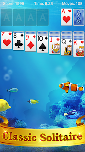 screenshot of Solitaire version 2.9.496