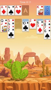 screenshot of Solitaire version 2.9.498