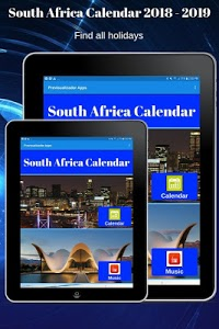 screenshot of South Africa Calendar 2019 version 1.15
