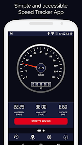 screenshot of Speedometer HD - Digital GPS Speedometer version 2.9