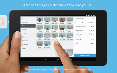screenshot of Square Point of Sale - POS version Varies with device