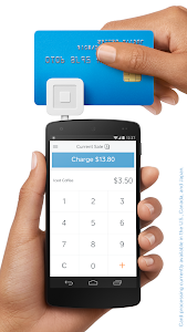 screenshot of Square Register version Varies with device