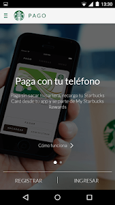 screenshot of Starbucks Mexico version 3.1.0