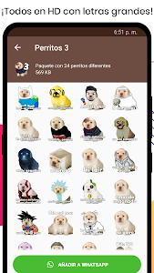 screenshot of Stickers del Perrito Triste para WhatsApp 🐶 version 1.1