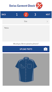 screenshot of Swiss Garment Check version 5.0