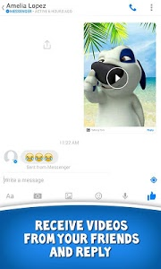 screenshot of Talking Tom for Messenger version 1.0