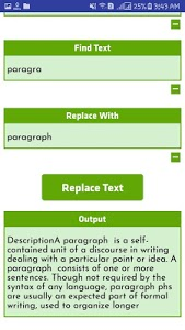 screenshot of Text Replacer version 4.0