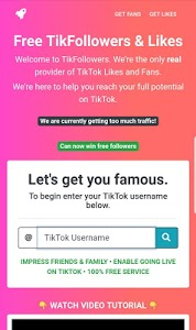 screenshot of TikFans : Free Followers & Likes version 7.3