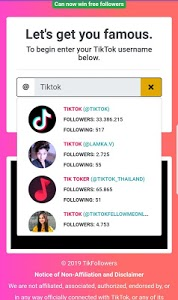 screenshot of TikFollowers : Free Fans & Followers & Likes version 10