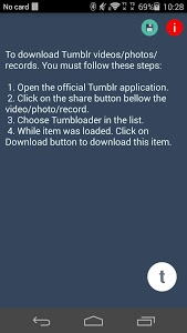 screenshot of Timbloader for Tumblr version Varies with device