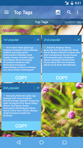 screenshot of Top Tags for Likes: Best Popular Hashtags version 2.36