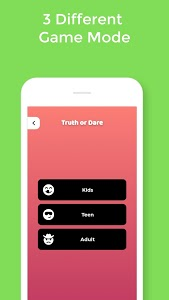 screenshot of Truth or Dare Game version 1.1