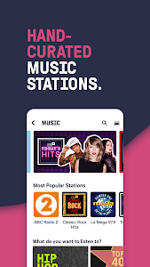 screenshot of TuneIn Radio: Live Sports, News, Music & Podcasts version Varies with device