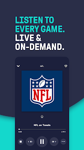 screenshot of TuneIn - NFL Radio, Free Music, Sports & Podcasts version Varies with device