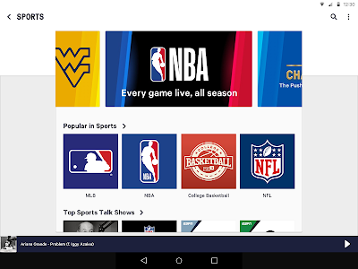 screenshot of TuneIn: NFL Radio, Music, Sports & Podcasts version Varies with device