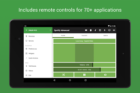 screenshot of Unified Remote version 3.15.4