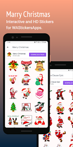 screenshot of Christmas Stickers for WAStickerApps version Varies with device