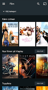 screenshot of Viaplay version Varies with device