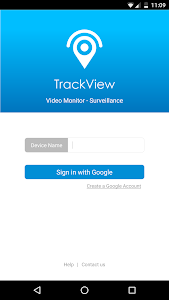 screenshot of Surveillance & Security - TrackView version 3.1.11