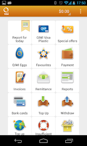 screenshot of Visa QIWI Wallet version 2.18.1.1
