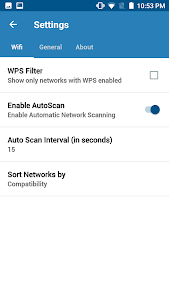 screenshot of WIFI WPS WPA TESTER version 3.9.2