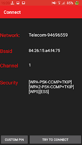 screenshot of WIFI WPS WPA TESTER version 3.2.5.1