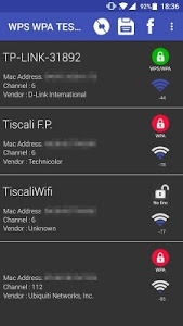 screenshot of WIFI WPS WPA TESTER version 3.6