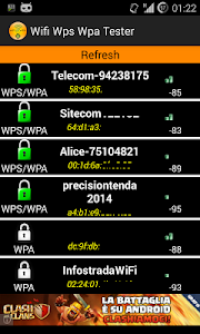 screenshot of WIFI WPS WPA TESTER (ROOT) version 2.7.1