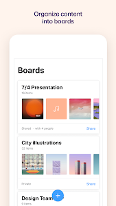 screenshot of Collect: Organize your content version 3.4.5