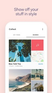 screenshot of Collect by WeTransfer version 3.1.7