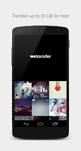 screenshot of WeTransfer version 1.0.5.5